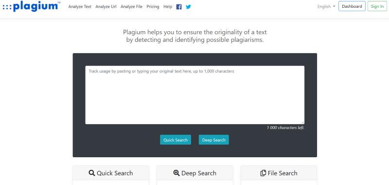 Plagium - Online Plagiarism Checker Tool